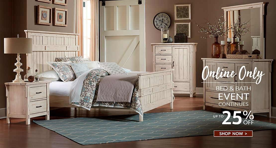 Online Bed & Bath Event Continues - Shop Now