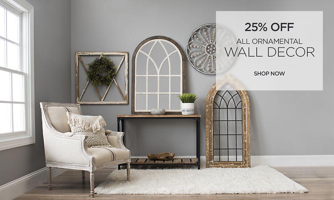 25% Off All Ornamental Wall Decor