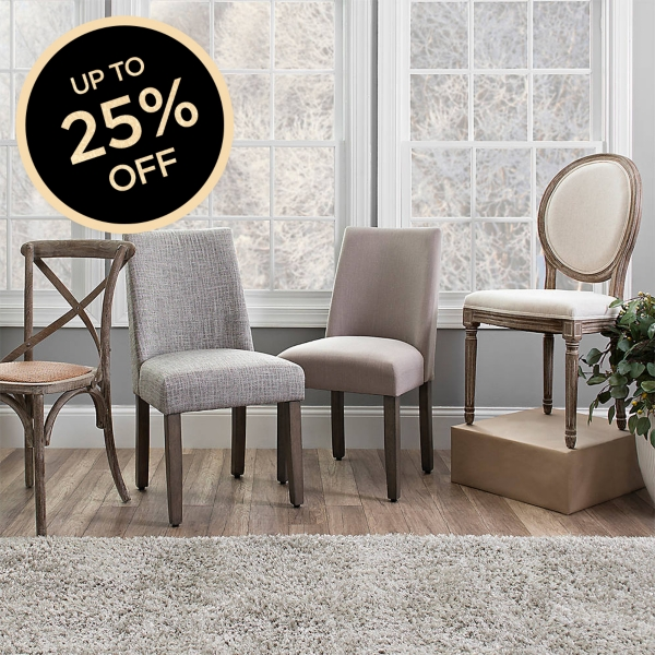 We have a great selection of dining chairs from which to choose.