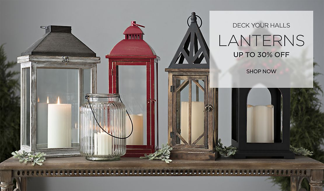 Deck Your Halls - Up to 30% off Lanterns - Shop Now