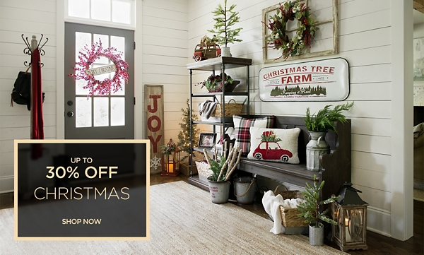 Up to 30% off Christmas Decor - Shop Now