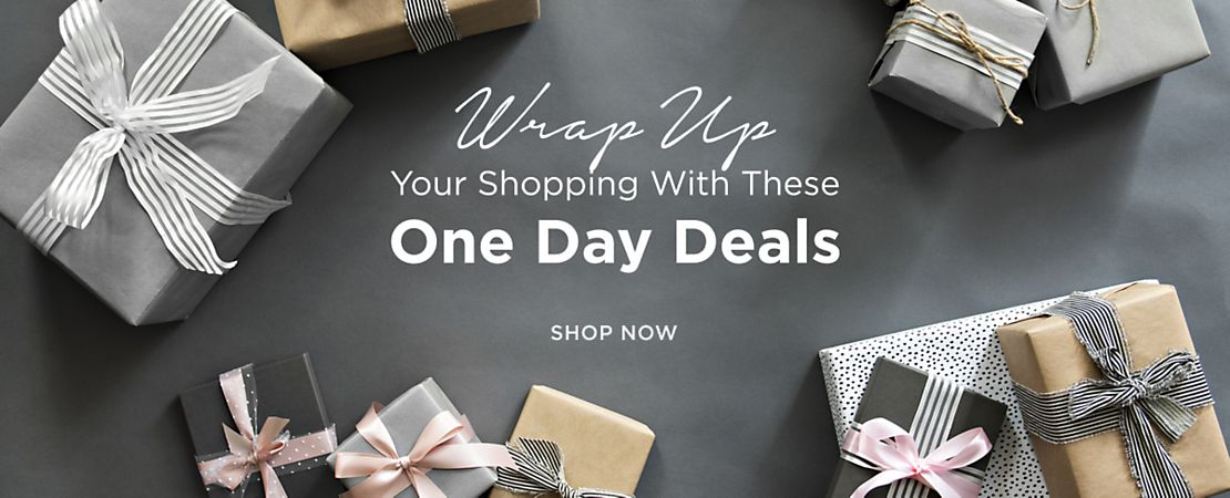 Wrap up your shopping with these one day deals - Shop Now - Shop Now