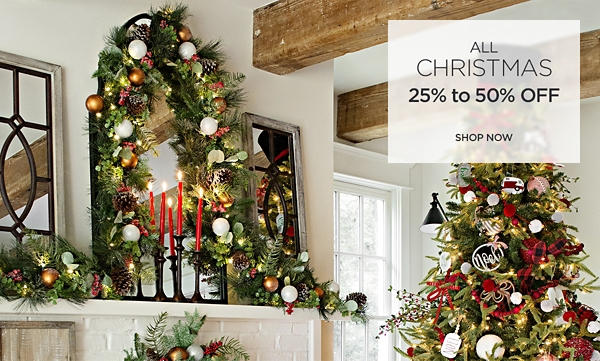 25% to 50% off all Christmas - Shop Now