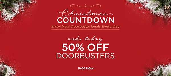 Christmas Countdown - New Deals Everyday - Ends Today - 50% Off Savings - Shop Now