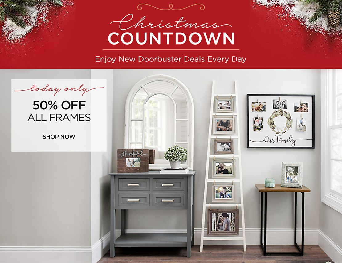 Christmas Countdown - New Deals Everyday - Today Only - 50% Off All Frames