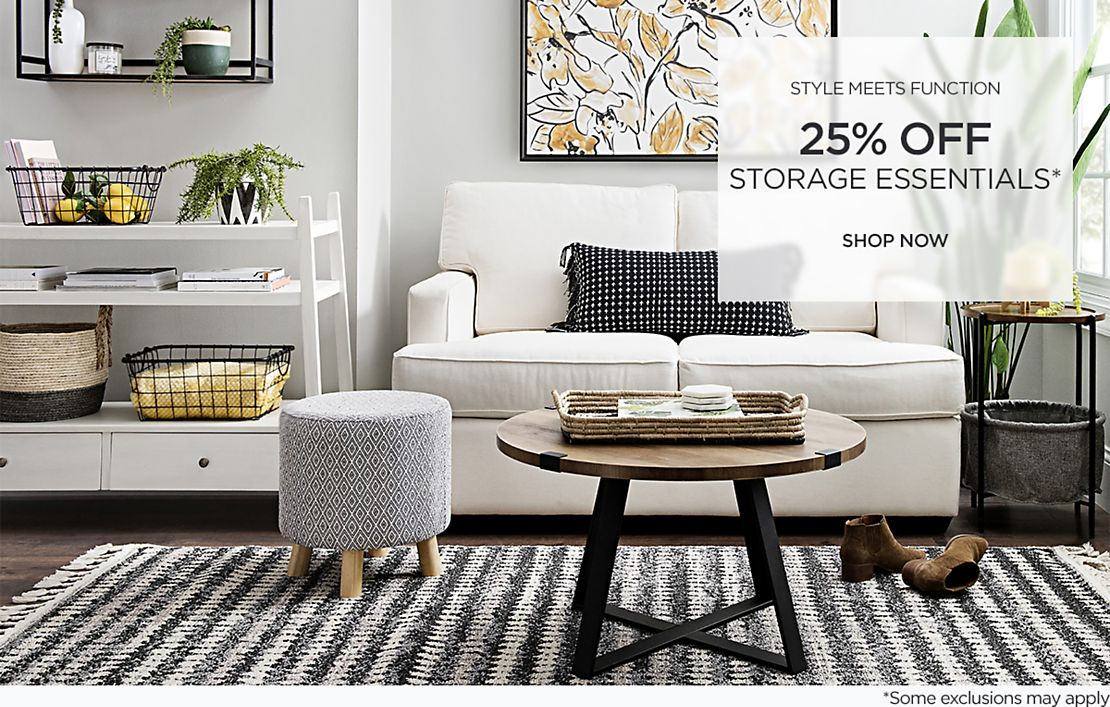 Style Meets Function - 25% Off Storage Essentials - Some exclusions may apply - Shop Now