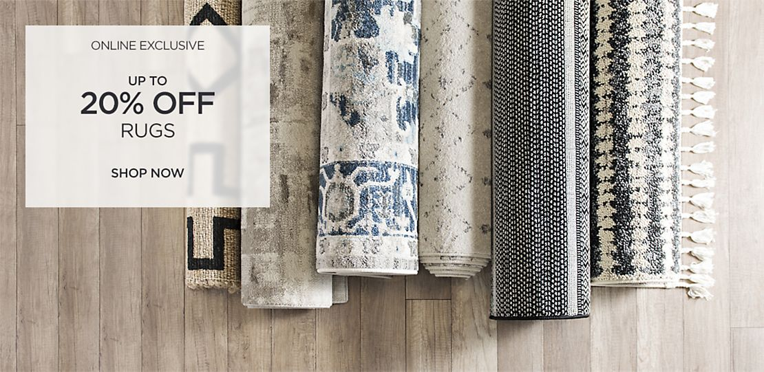 Exclusively Online - Up to 20% off Rugs - Shop Now