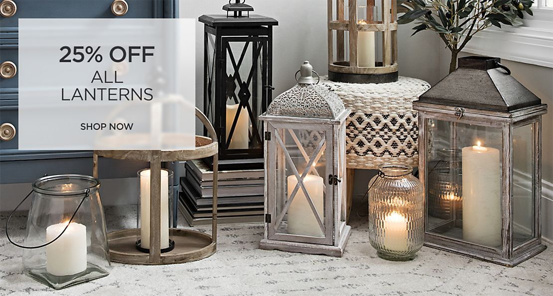 All Lanterns 25% off - Shop Now