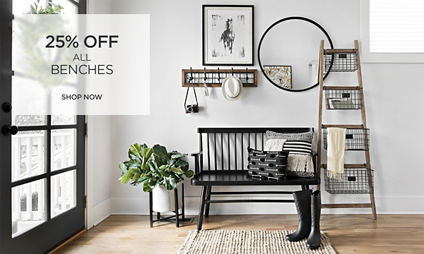 25% Off All Benches - Shop Now