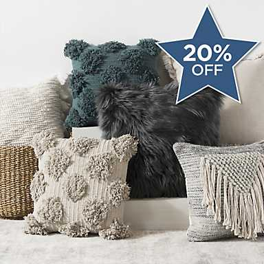 See our selection of throw pillows