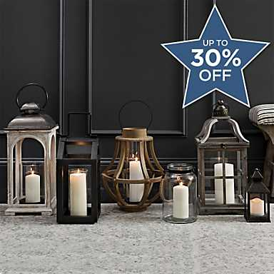 Lanterns of all sizes to decorate your home