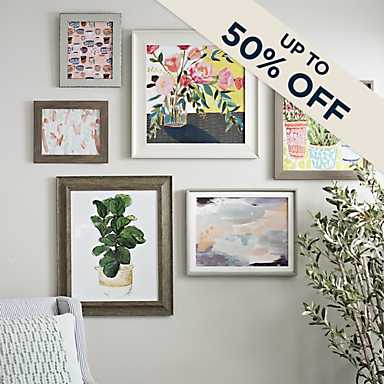A large selection of framed art at great prices