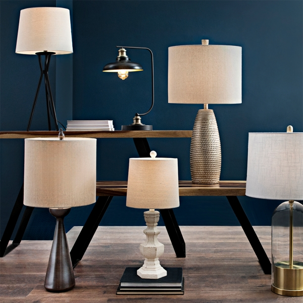 A great selection of table and floor lamps