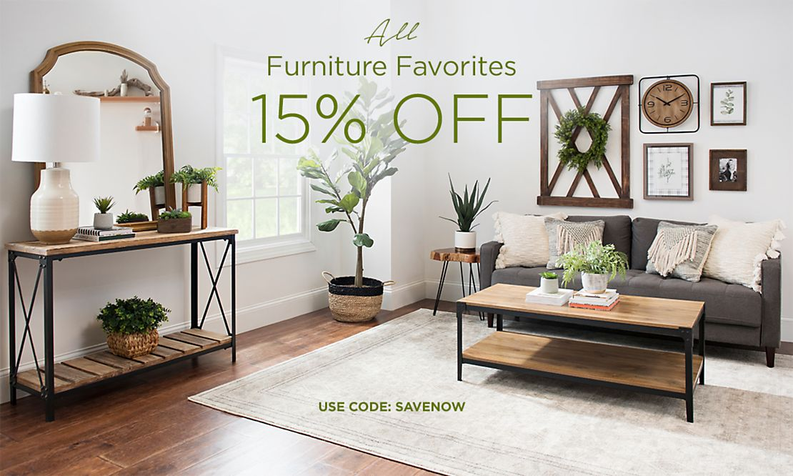 All Furniture Favorites 15% Off - Use code ?????? - Shop Now