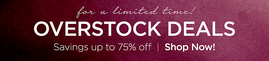 Can't Miss Savings Limited Time Overstock Deals - Shop Now