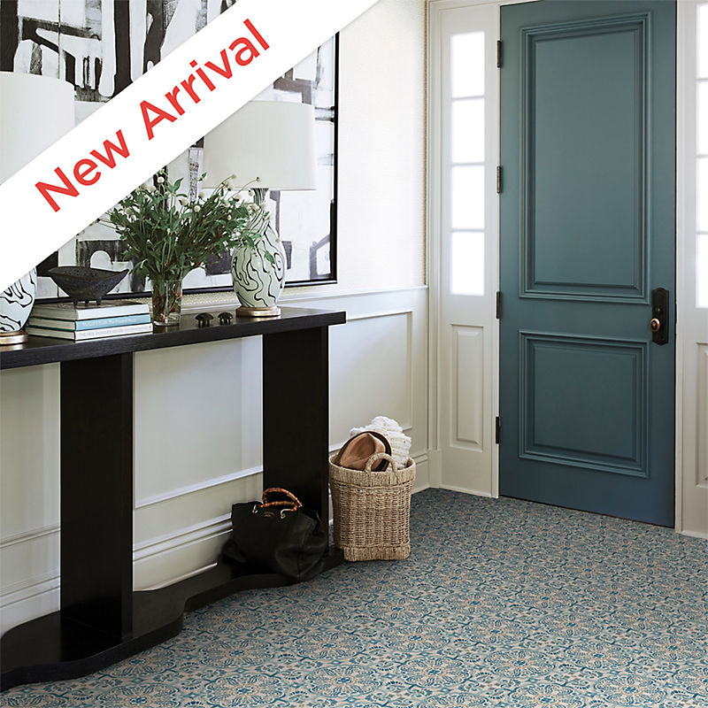Blue Fontaine Peel And Stick Floor Tiles