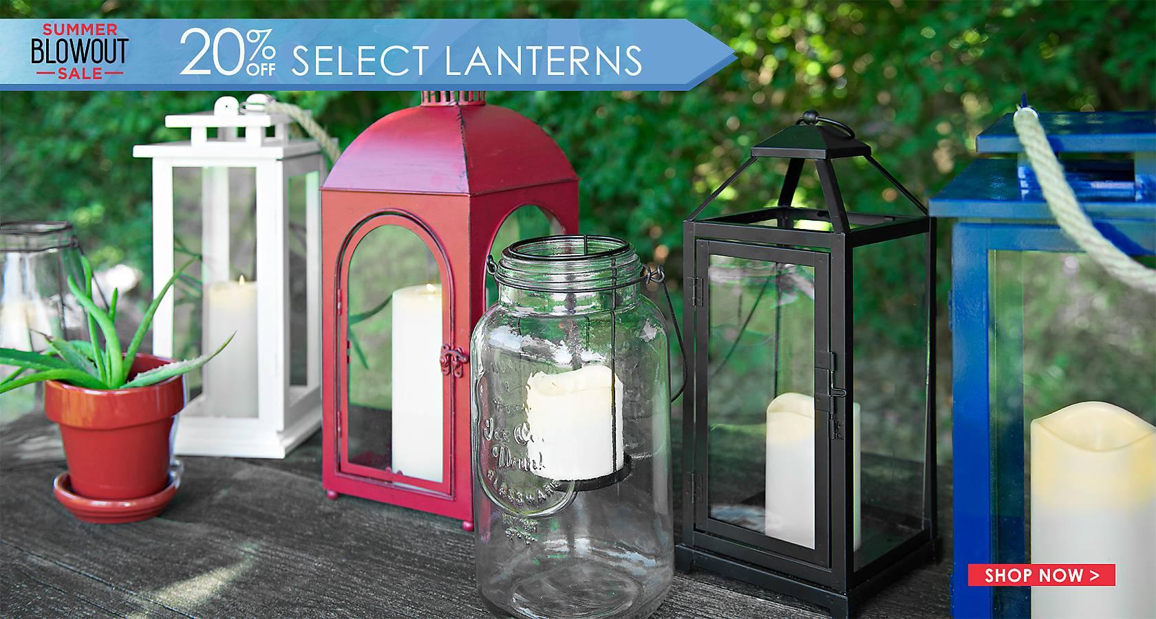 20% Off Select Lanterns - Shop Now