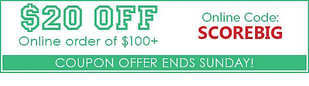 $20 off online purchase of $100 or more!
