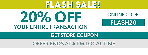 20% off entire Transaction - online code FLASH20