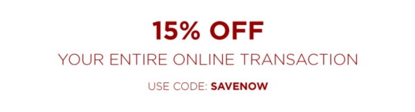 15% off your entire online transaction - use code: SAVENOW