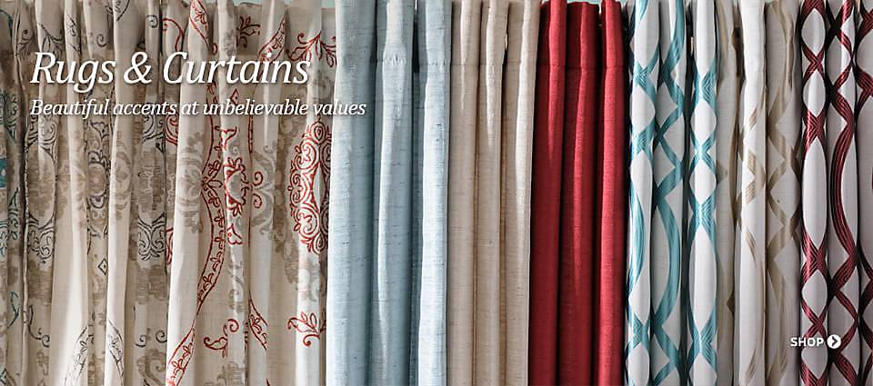 Rugs & Curtains - Beautiful accents at unbelievable values!