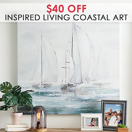 20% Off Inspired Living Coastal Art