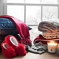 Cozy Throws, Slippers, Candles