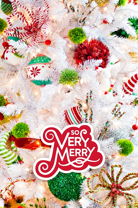 so very merry - Christmas Holiday Decorations