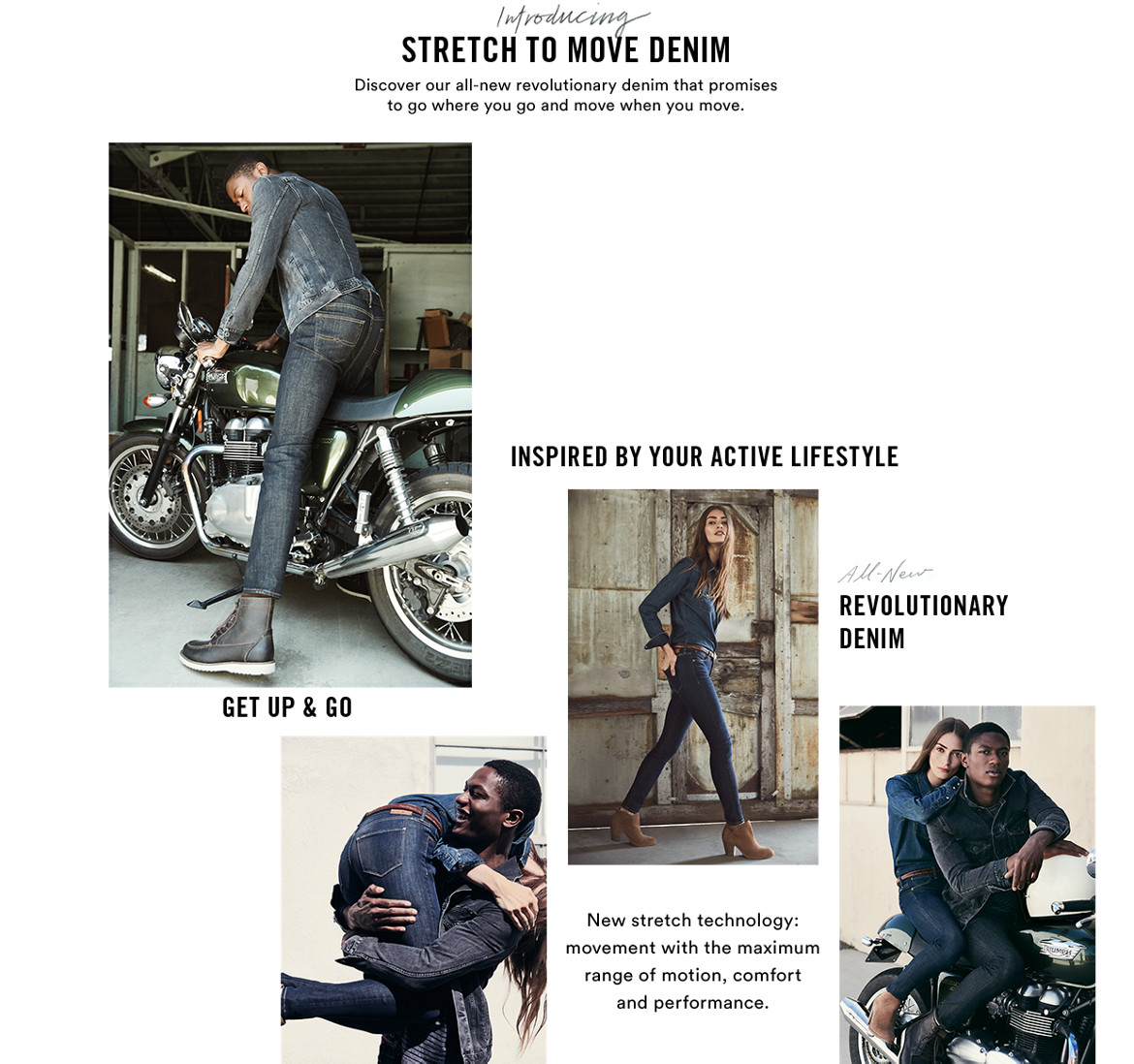 Stretch to move denim image