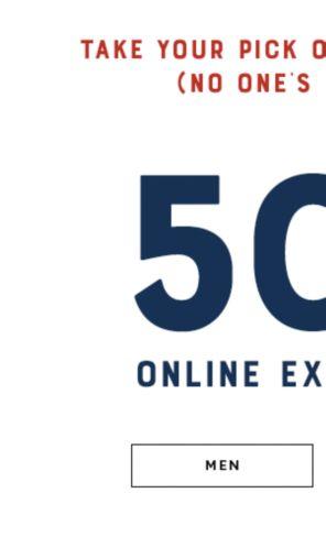 Men's Online Exclusives