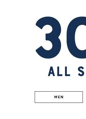 30% Off Men's Shoes