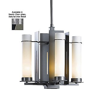 New Town Four Light Chandelier with Glass Options by Hubbardton Forge - OPEN BOX RETURN