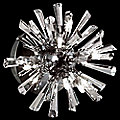 Lenka 6-Light Crystal Flushmount by Eurofase