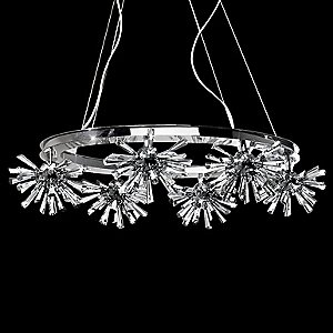 Lenka 36 Oval Crystal Chandelier by Eurofase