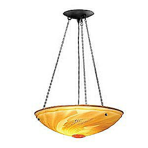Roman 18 in. Bowl Suspension by Bacchus Glass
