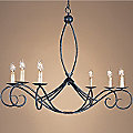 Cheshire Oval Chandelier by Currey and Company
