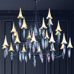 Plume 24 Light Crystal Chandelier by Baccarat