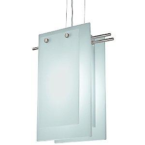 Suspended Glass B Pendant by Sonneman