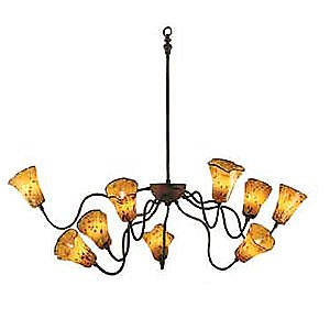 Frenzi Chandelier by Bacchus Glass