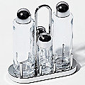 Ettore Sottsass Condiment Set (Oil, Vinegar, Salt and Pepper) by Alessi