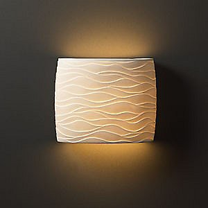 Wide Oval Wall Sconce by Justice Design