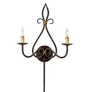 Icon 2 Light Wall Sconce by Currey and Company