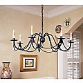 French Nouveau Chandelier by Currey and Company