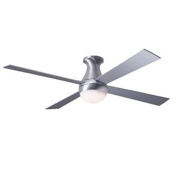 Ball Hugger Ceiling Fan with Optional Light