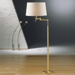 Swing-Arm Floor Lamp No. 2541/2 by Holtkoetter
