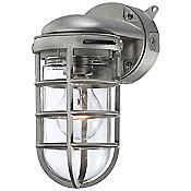 23264 Outdoor Wall Sconce (Clear/Nickel) - OPEN BOX RETURN