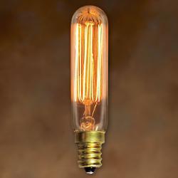 25W 120V T6 E12 Nostalgic Clear Bulb