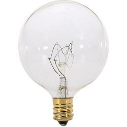 40W 120V G16 1/2 E12 Clear Bulb