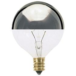40W 120V G16 1/2 E12 Silver Crown Bulb