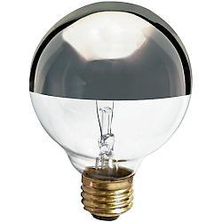 40W 120V G25 E26 Silver Crown Bulb